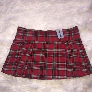 NWT Hot Topic Plaid Mini Skirt